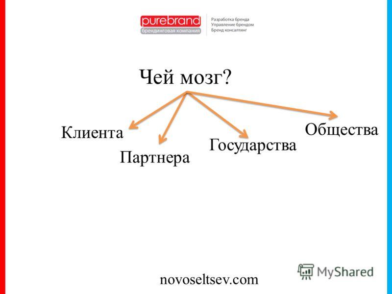 novoseltsev.com Чей мозг? Клиента Партнера Государства Общества