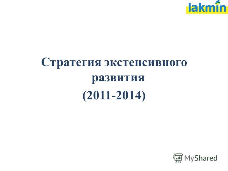 Стратегия экстенсивного развития (2011-2014)