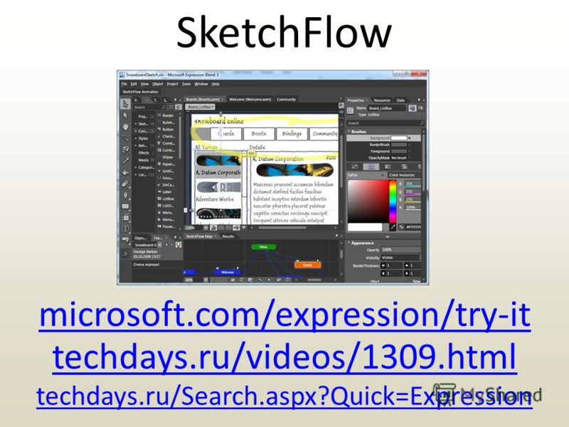 SketchFlow microsoft.com/expression/try-it techdays.ru/videos/1309.html techdays.ru/Search.aspx?Quick=Expression