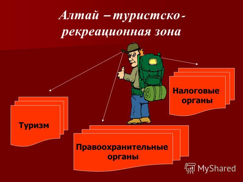 Алтай – туристско - рекреационная зона Туризм Правоохранительные органы Налоговые органы