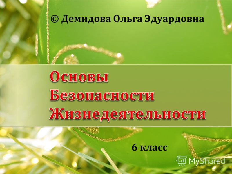 © Демидова Ольга Эдуардовна 6 класс
