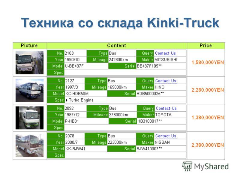 Техника со склада Kinki-Truck