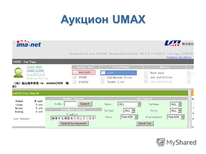 Аукцион UMAX