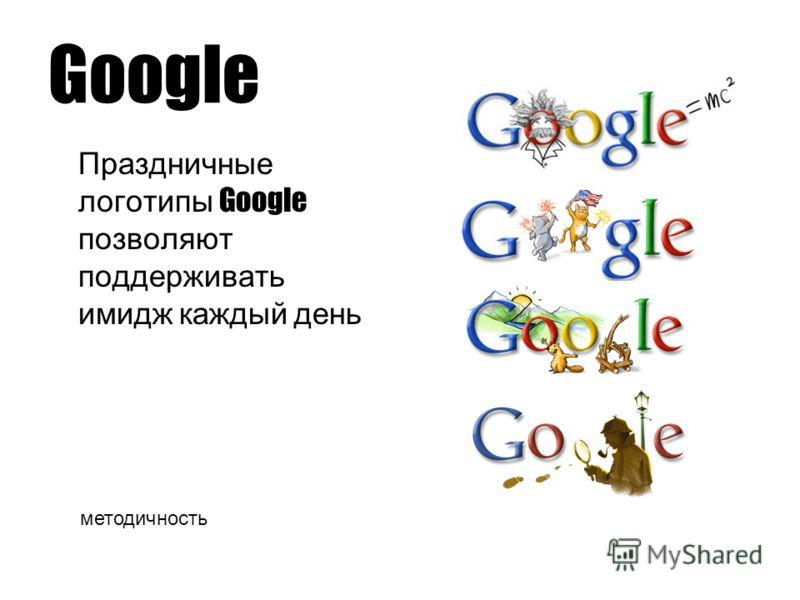 Google Праздничные логотипы Google позволяют поддерживать имидж каждый день методичность