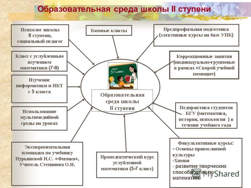 Образовательная среда школы II ступени