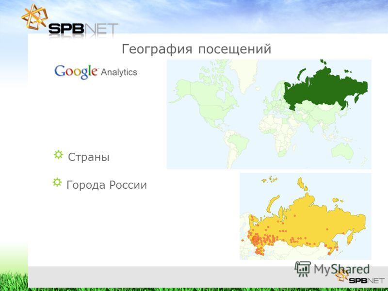 География посещений Страны Города России