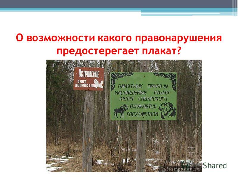 О возможности какого правонарушения предостерегает плакат?