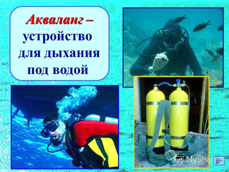 Акваланг – устройство для дыхания под водой