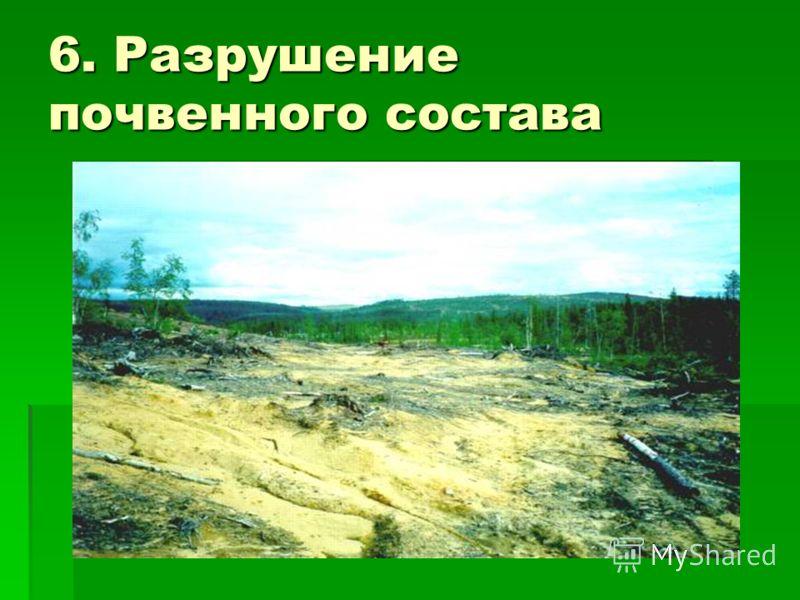6. Разрушение почвенного состава