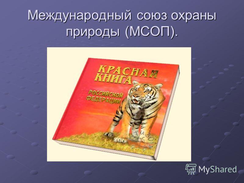 Международный союз охраны природы (МСОП).