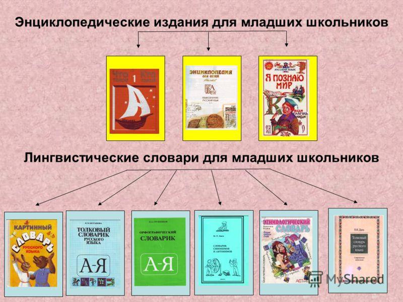 Энциклопедические издания для младших школьников Лингвистические словари для младших школьников
