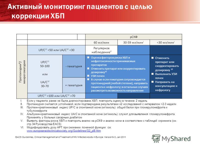 рСКФ 60 мл/мин30-59 мл/мин I 2-3 недели III.Протеин-креатининовый индекс UP/C в спонтанной моче (мг/ммоль): общий белок при гломерулонефрите и тубулонефрите IV.Альбумин-креатининовый индекс UA/C в спонтанной моче (мг/ммоль): служит для выявления глом