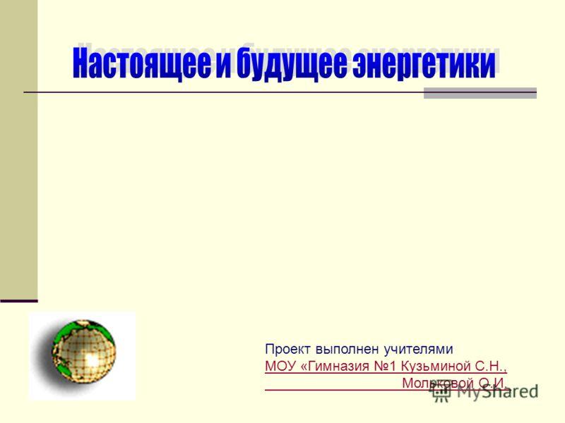 Проект выполнен учителями МОУ «Гимназия 1 Кузьминой С.Н., Мольковой О.И.
