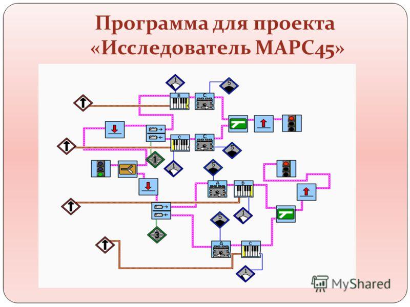 Программа для проекта «Исследователь МАРС45»