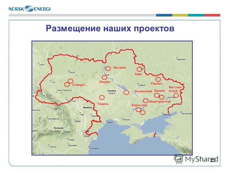 22 Размещение наших проектов Ternopol Kremenchuk Zaporozhje Vinnitsa Sumy Dnepropetrovsk Charkov Donetsk Slavutich Obuchov Slavyano- Serbsk