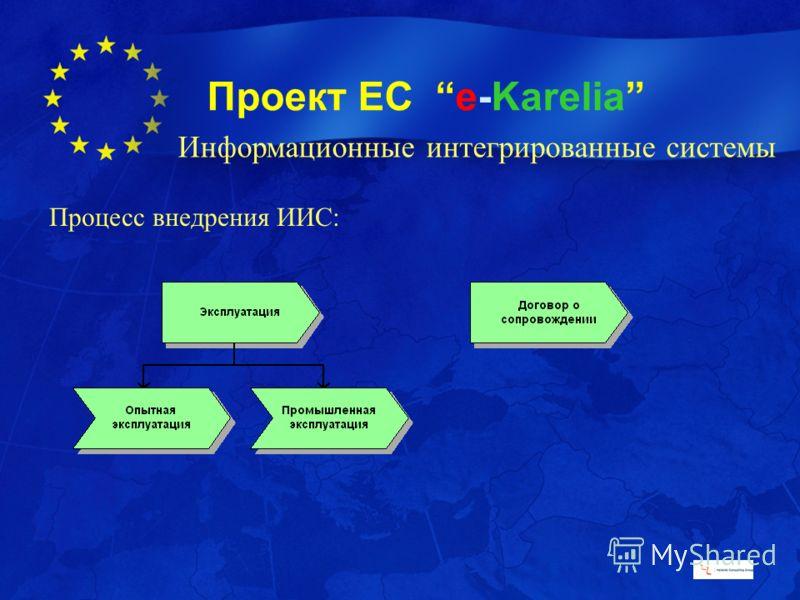 Проект ЕС e-Karelia Процесс внедрения ИИС: Информационные интегрированные системы