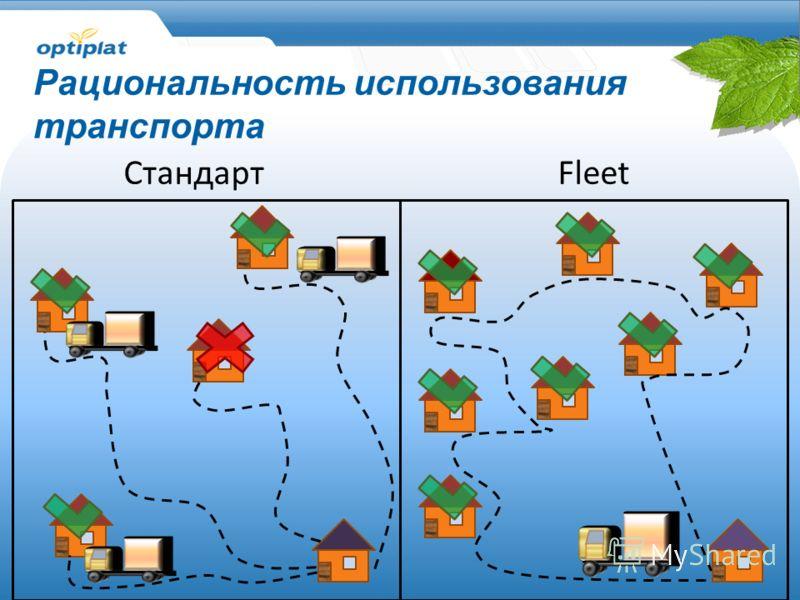 Fleet Рациональность использования транспорта