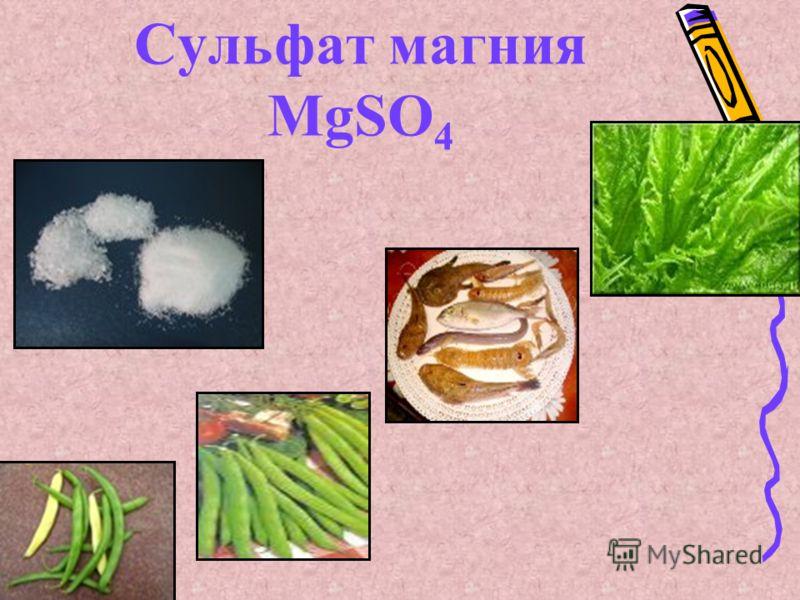 Сульфат магния MgSO 4