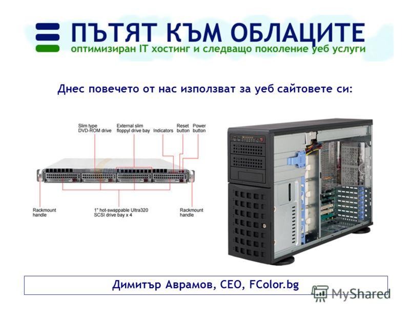Димитър Аврамов, CEO, FColor.bg Днес повечето от нас използват за уеб сайтовете си: