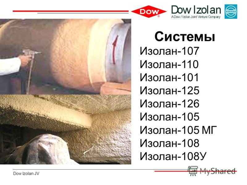 Dow Izolan JV Системы Изолан-107 Изолан-110 Изолан-101 Изолан-125 Изолан-126 Изолан-105 Изолан-105 МГ Изолан-108 Изолан-108У