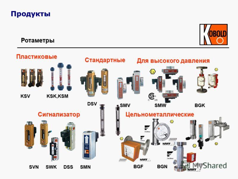Ротаметры Для высокого давления Пластиковые ЦельнометаллическиеСигнализатор SVN SWK DSS SMN BGF BGN SMV SMW BGK KSV KSK,KSM Стандартные DSV Продукты