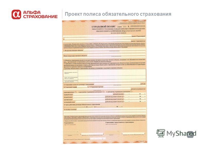 12 Проект полиса обязательного страхования