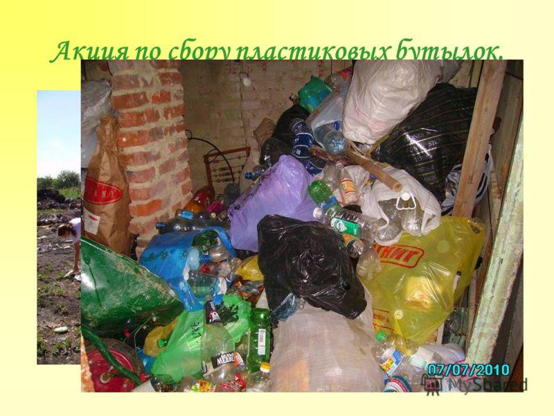 Акция по сбору пластиковых бутылок.