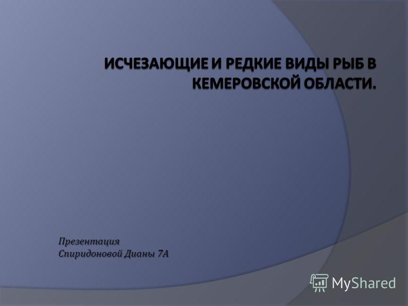 Презентация Спиридоновой Дианы 7 А