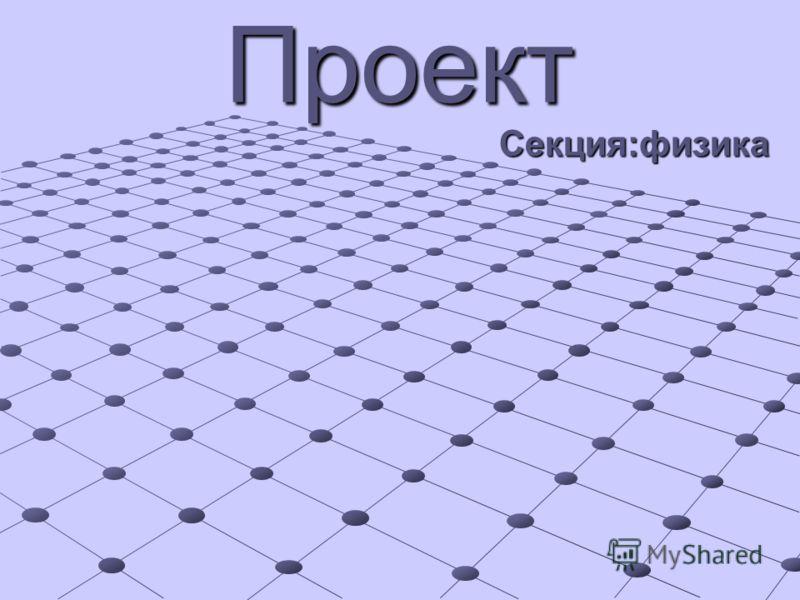 Секция:физика Проект
