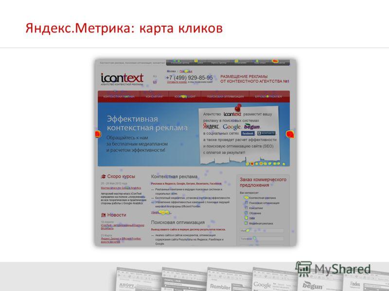 Яндекс.Метрика: карта кликов