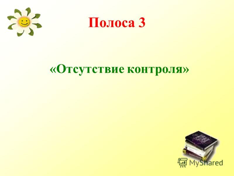 Полоса 3 «Отсутствие контроля»