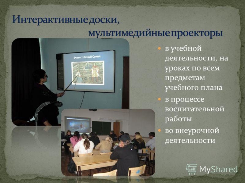 в учебной деятельности, на уроках по всем предметам учебного плана в процессе воспитательной работы во внеурочной деятельности