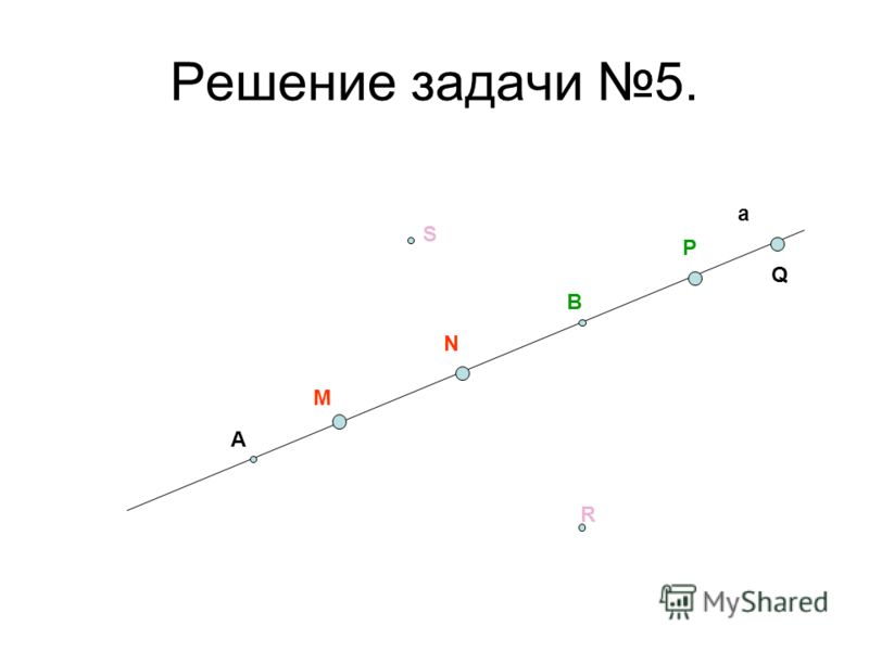 Решение задачи 5. а А В M N P Q R S