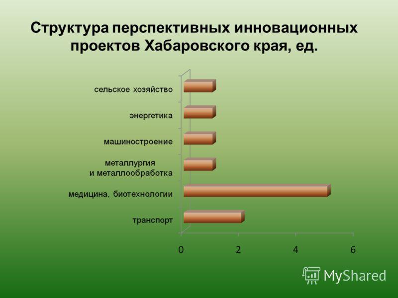Структура перспективных инновационных проектов Хабаровского края, ед.