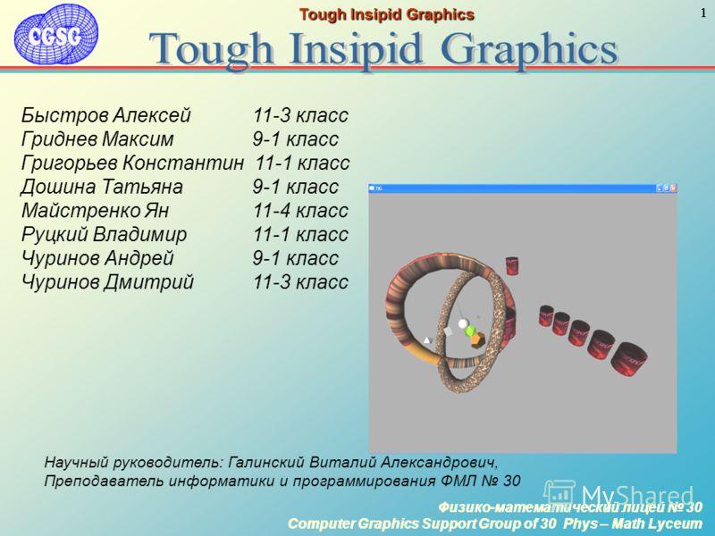 Физико-математический лицей 30 Computer Graphics Support Group of 30 Phys – Math Lyceum 1 Физико-математический лицей 30 Computer Graphics Support Group of 30 Phys – Math Lyceum 1 Tough Insipid Graphics Физико-математический лицей 30 Computer Graphic