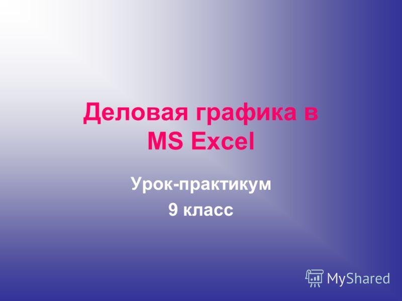Деловая графика в MS Excel Урок-практикум 9 класс