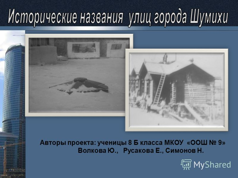 Авторы проекта: ученицы 8 Б класса МКОУ «ООШ 9» Волкова Ю., Русакова Е., Симонов Н.