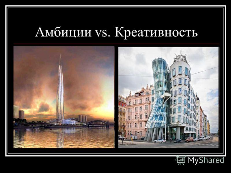 Амбиции vs. Креативность
