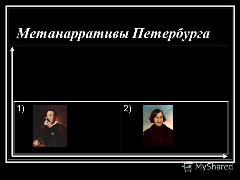 Метанарративы Петербурга 1)2)