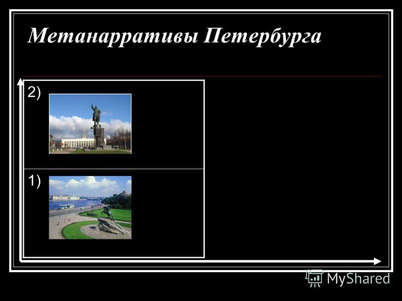 Метанарративы Петербурга 2) 1)