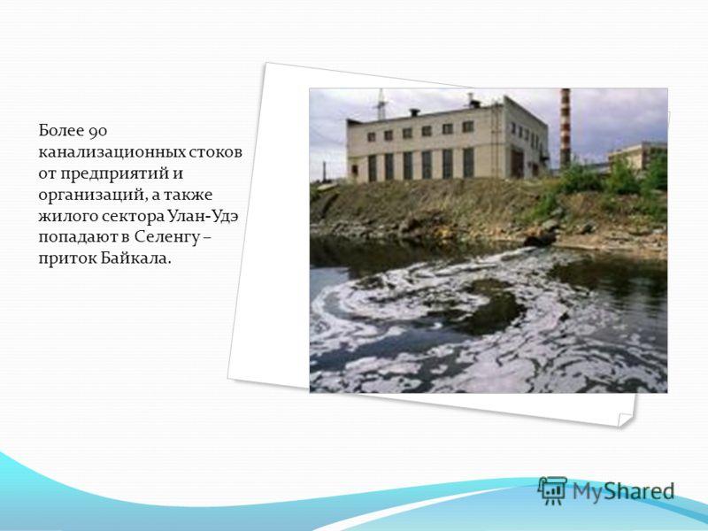 Более 90 канализационных стоков от предприятий и организаций, а также жилого сектора Улан-Удэ попадают в Селенгу – приток Байкала.