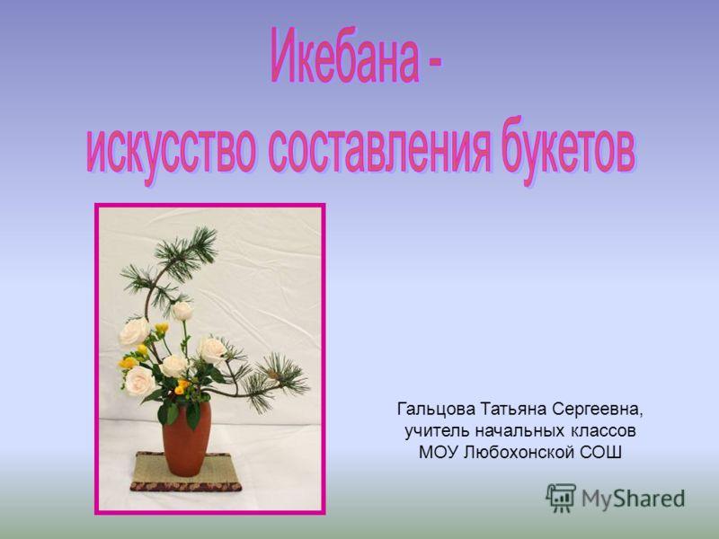 Гальцова Татьяна Сергеевна, учитель начальных классов МОУ Любохонской СОШ