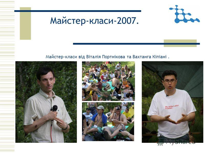 Майстер-класи-2007. Майстер-класи від Віталія Портнікова та Вахтанга Кіпіані.