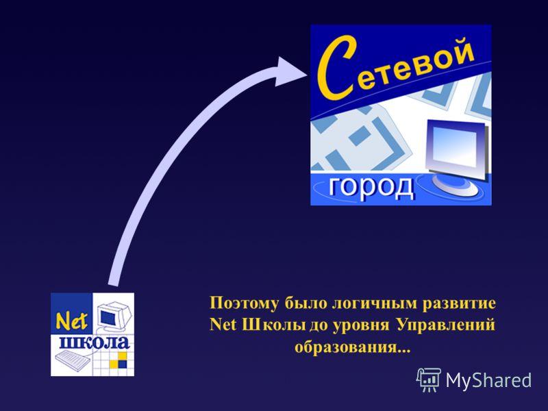 Поэтому было логичным развитие Net Школы до уровня Управлений образования...