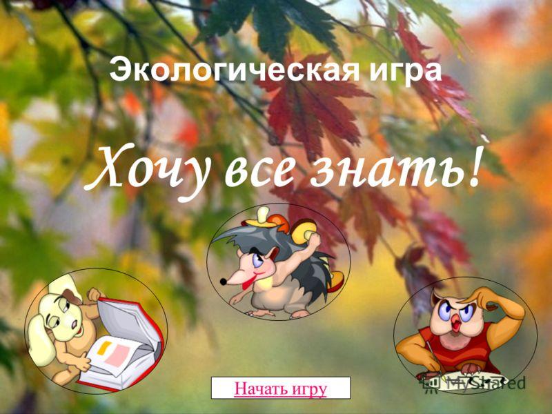 Экологическая игра «Хочу все знать!»