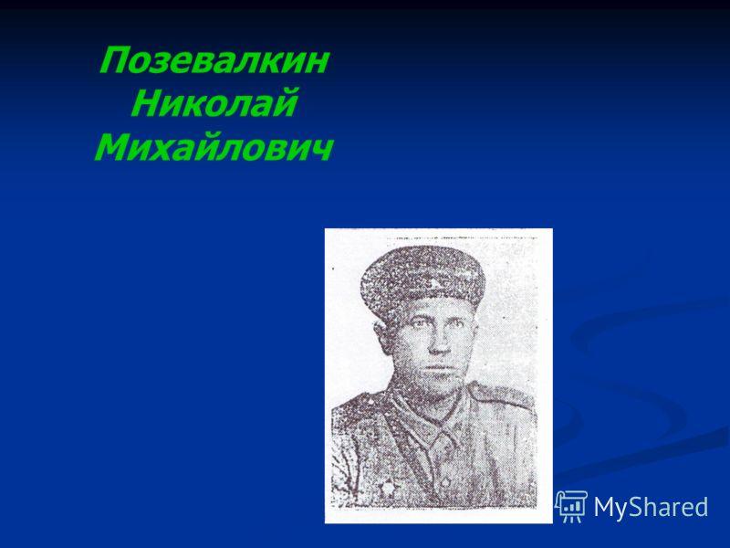 Позевалкин Николай Михайлович