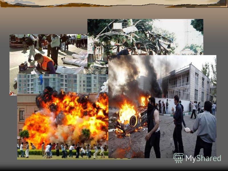 2002г., 5 августа – в результате взрыва в городке Санта-Пола в Испании погибли двое и ранены 25 человек; 2002г., 28 сентября – Бангладеш, в кинотеатре взорвано 4 бомбы; 10 человек убиты, 200 ранены; 2002г., 12 октября – на крупнейших курортах Бали (И