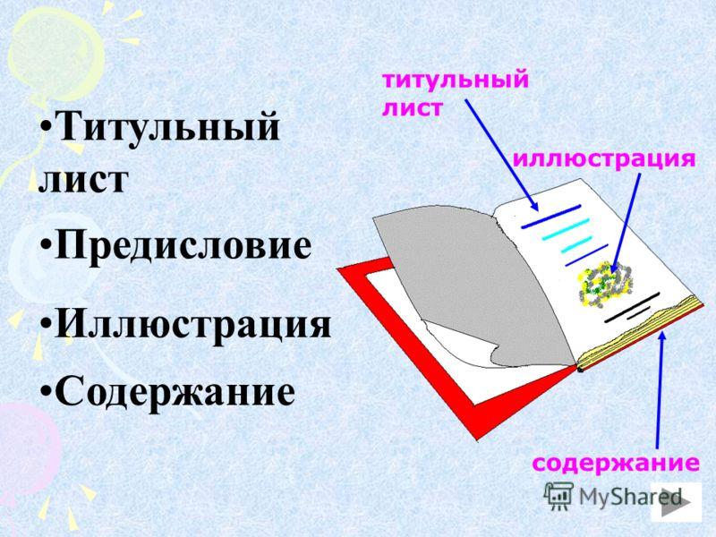 Титульный лист Предисловие Иллюстрация Содержание титульный лист иллюстрация содержание