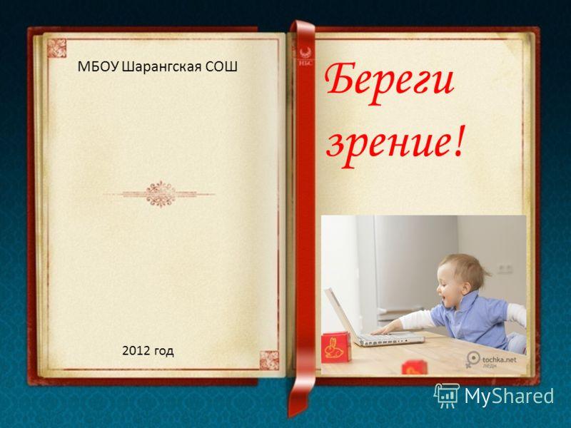 Береги зрение! МБОУ Шарангская СОШ 2012 год