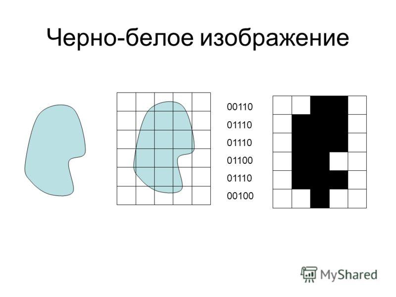 Черно-белое изображение 00110 01110 01100 01110 00100